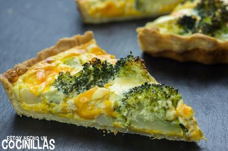 Receta de quiche de brócoli y queso cheddar