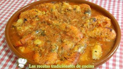 Zarzuela de marisco y pescado receta fácil