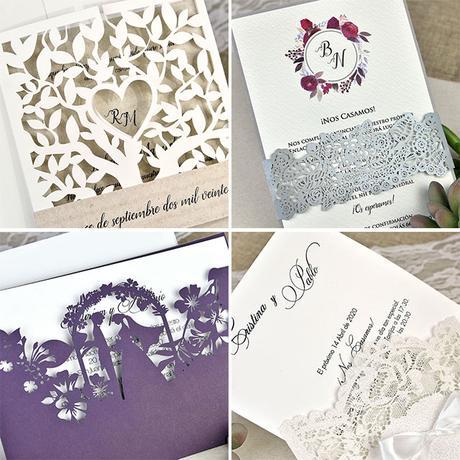 invitaciones de boda con corte láser