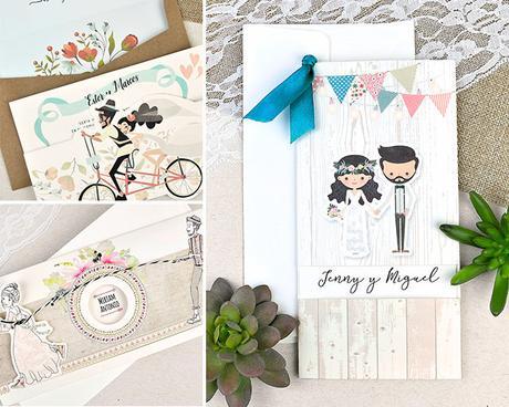 Invitaciones de boda hipster