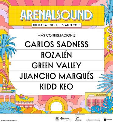 Arenal Sound 2018: Carlos Sadness, Rozalén, Green Valley...