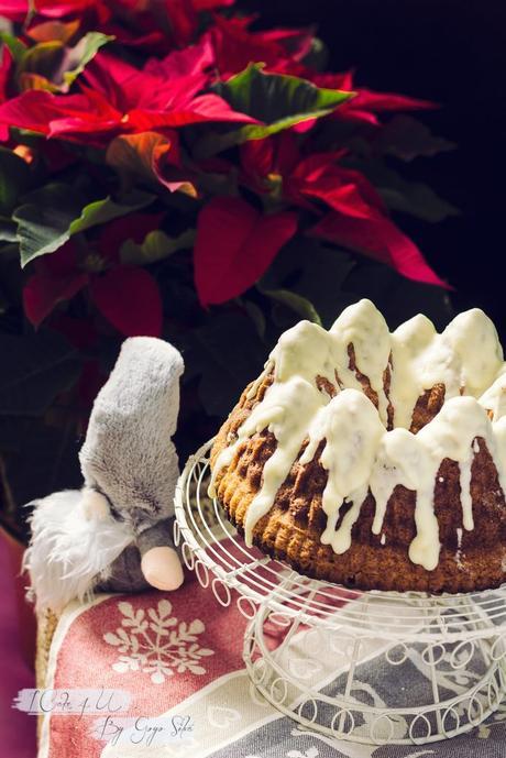 Bundt Cake Corazón Ferrero Rocher y turrón
