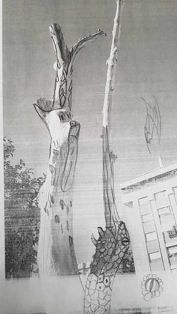 Proyecto árbol- fase bocetos