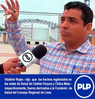 REFUTAN A PRESIDENTE DE COMISIÓN DE SALUD DEL PLENO REGIONAL DE LIMA…