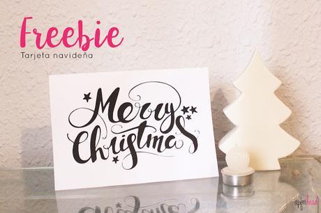 Freebie: Tarjeta navideña