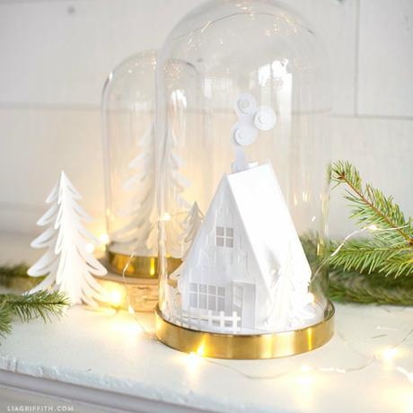 DIY campana de IKEA decorada para Navidad