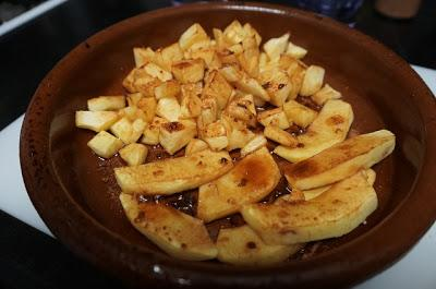 Postre de vasitos de manzana y yogur