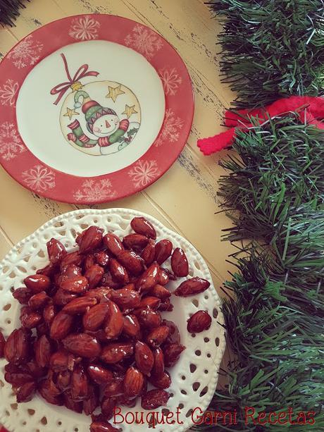 Receta de Navidad. Almendras caramelizadas al cardamomo