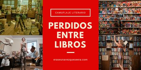 Perdidos entre libros: sorprendentes fotografía de camuflaje literario
