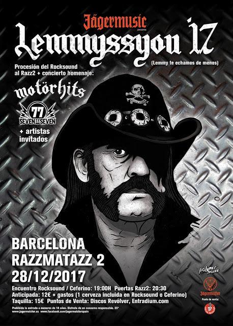 Procesión y concierto en Barcelona para recordar a Lemmy en el segundo aniversario de su muerte
