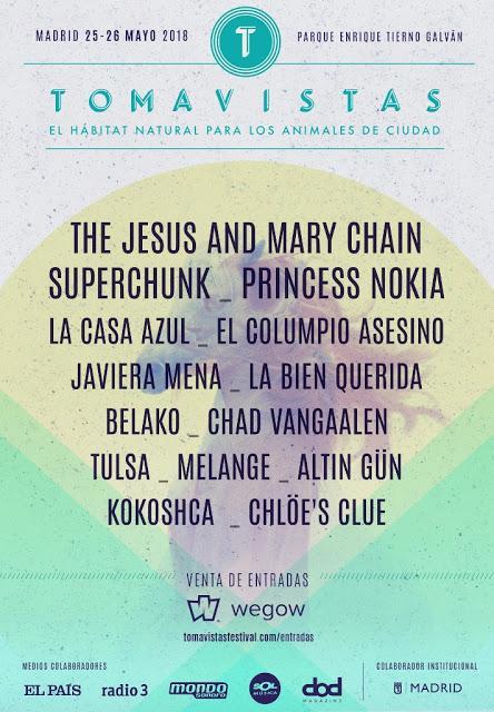 Festival Tomavistas 2018: Javiera Mena, La Bien Querida, Tulsa, Princess Nokia...