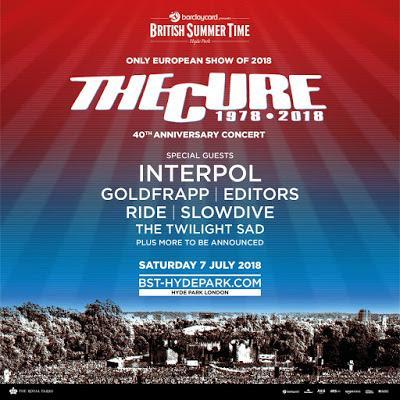 The Cure celebrarán sus 40 años con un gran concierto en Hyde Park acompañados por Interpol, Editors, Goldfrapp...