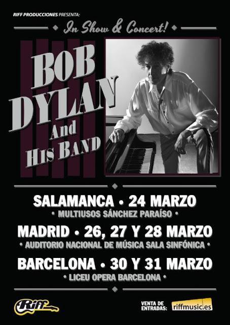Bob Dylan actuará en 2018 en Salamanca, Madrid (Auditorio Nacional) y Barcelona (Liceu)