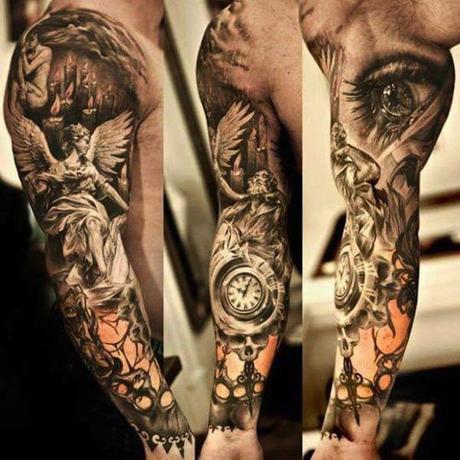 20 Tatuajes de brazos para hombres y mujeres a todo color