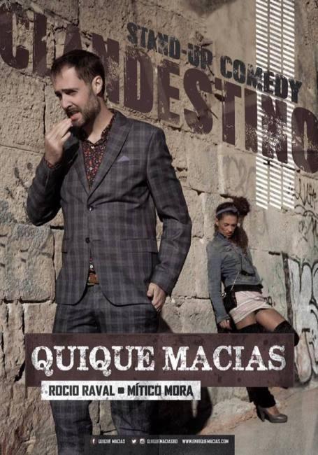 El 'clandestino' Quique Macías desafía a la Ley Mordaza en Barcelona