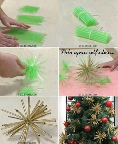 diy ornamentos de Navidad