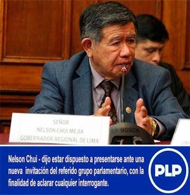 NELSON CHUI ACLARA SER RESPETUOSO DE LA INSTANCIA DEL FUERO LEGISLATIVO…