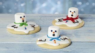 Galletas con muñeco de nieve