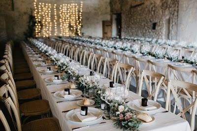 Montaje de salón para boda