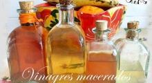 cuatro vinagres macerados medicinales
