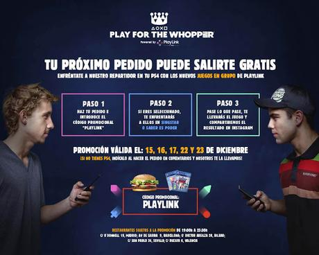 PlayStation y Burguer King lanzan un reto por pedido gratis