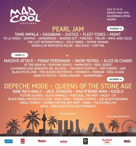 Mad Cool Festival 2018: Tame Impala, Franz Ferdinand, Alice in Chains, Kase.O, Glass Animals, Kaleo, Portugal The Man...