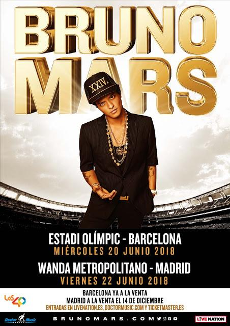 Bruno Mars vende más de 43.100 entradas en dos horas para su concierto en Madrid