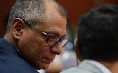 Condenado a seis años de cárcel vicepresidente Ecuador