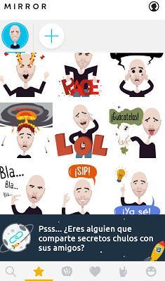 Mirror, #App que te permite crea tus propios #Emojis Personalizados