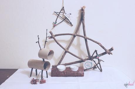 DIY: estrella rústica para Navidad