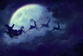 Santa trineo luna