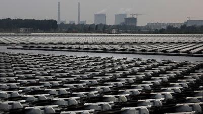 China construye la planta de energía solar flotante más grande del mundo.