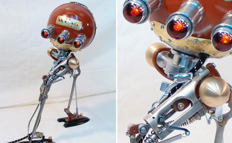 18 Robots hechos con basura reciclada