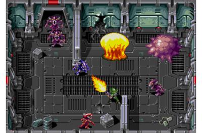 'Xeno Crisis', un 'shooter' de vista cenital para Mega Drive que lo 'peta' en Kickstarter