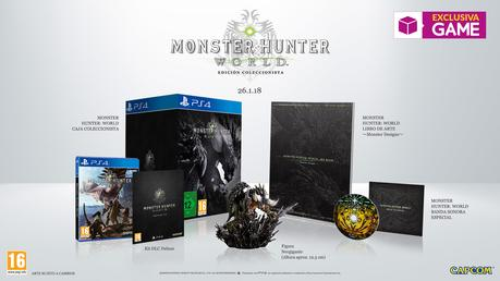 GAME venderá una limitada Edición Coleccionista de Monster Hunter World
