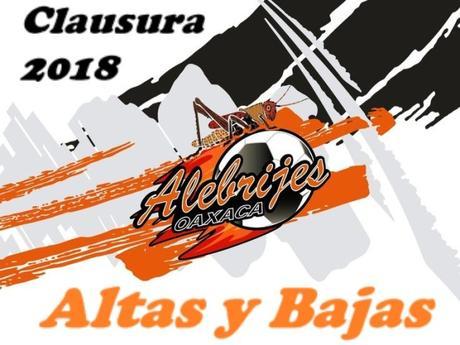 Altas y Bajas de Alebrijes Oaxaca – Clausura 2018