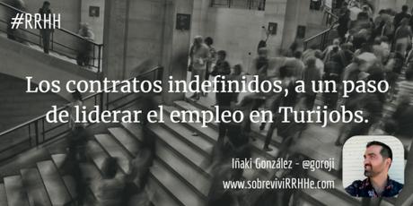 Los contratos indefinidos, a un paso de liderar el empleo en Turijobs.