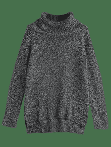 Jersey con hendidura lateral de cuello alto