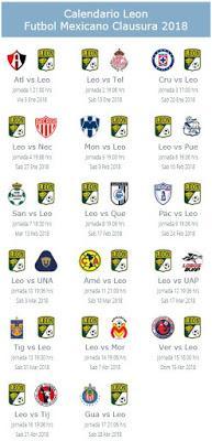 Calendario de León para el Clausura 2018