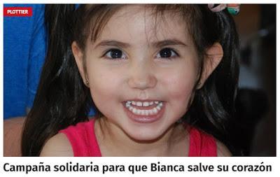 Campaña solidaria para que Bianca salve su corazón