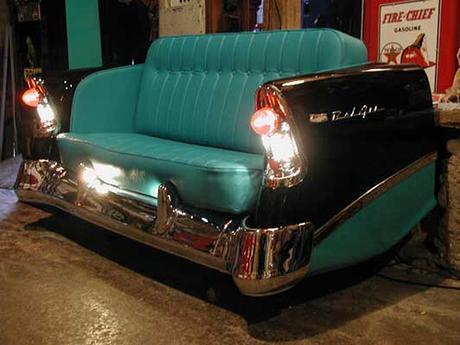 Los sillones mas increíbles del mundo hechos con partes de autos