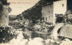 Postal de 1914. Baños de la Jarra. Fuente: bunyul.com