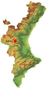 Localización Buñol.