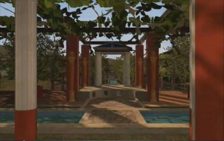 Viridarium .Jardín romano
