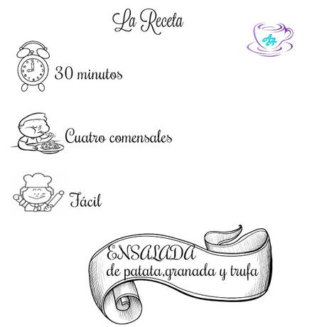 ENSALADA DE PATATA,  GRANADA Y TRUFA