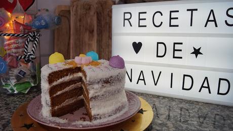 TARTA NAKED CAKE DE NAVIDAD
