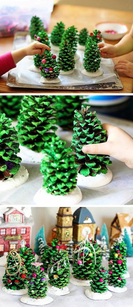 manualidades de navidad con piĂąas