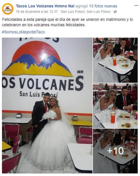 Pareja potosina celebra matrimonio en los Tacos
