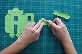¿Como hacer letras de cartón en 3D?