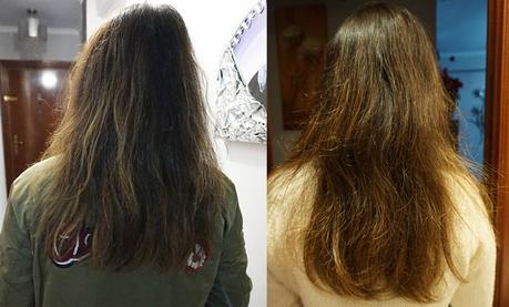 Resultados de mi tratamiento capilar con los productos de Halier: Hairvity y Fortesse
